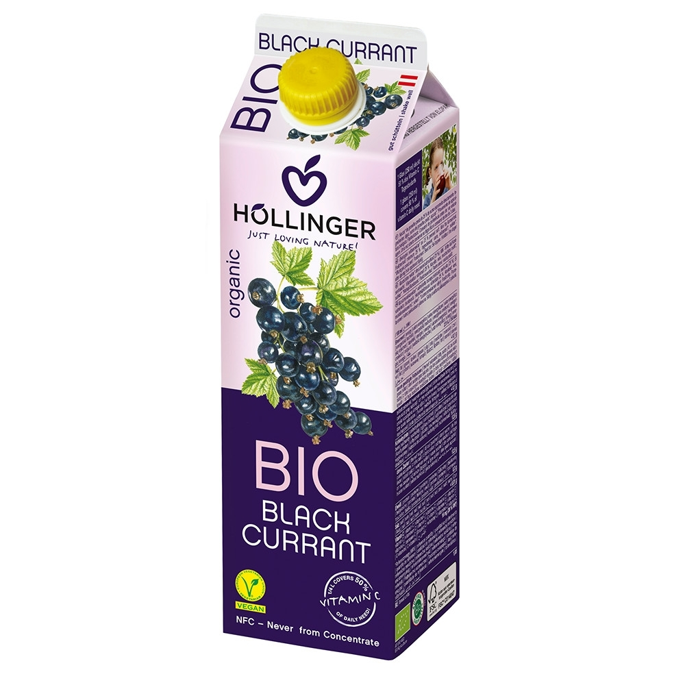 HOLLINGER 荷林阿爾卑斯有機鮮榨黑醋栗果汁 (1000ml/盒)