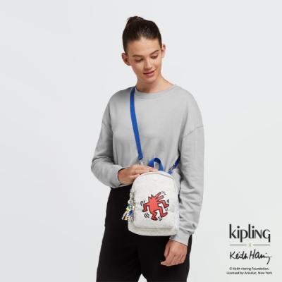 Kipling x Keith Haring 限量聯名系列街頭塗鴉休閒後背包-DELIA COMPACT
