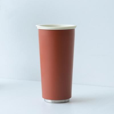 JIA Inc.虹彩鋼 雙層琺瑯塗層隨行杯470ml(紅色)(快)