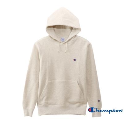 Champion Basic 毛巾布連帽 Tee 米色