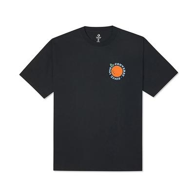 CONVERSE ORANGE JUICE TEE 短袖上衣 男款 黑色-10023039-A01