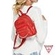 GUESS-女包-斜壓紋LOGO肩背後背包-紅 product thumbnail 1