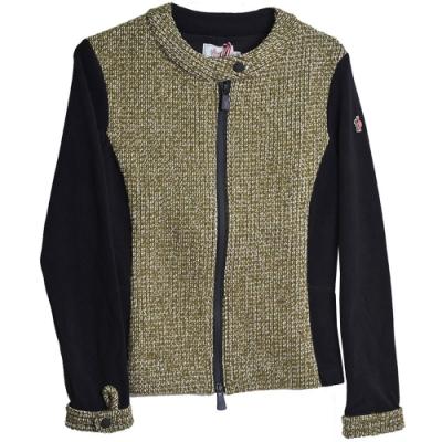 MONCLER GRENOBLE系列義大利製刺繡側標毛尼毛線混紡外套(M號/女款)