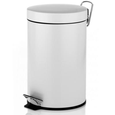 《KELA》簡約腳踏式垃圾桶(白3L)