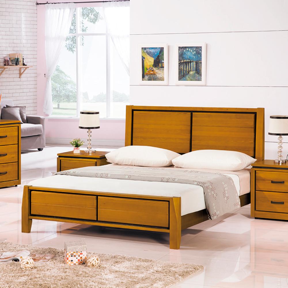 AS-華特實木雙人加大6尺雙人床-183x203x105cm @ Y!購物