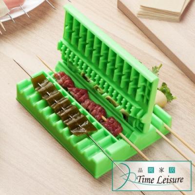 Time Leisure 戶外露營快速烤肉串/蔬菜捲穿串工具 綠