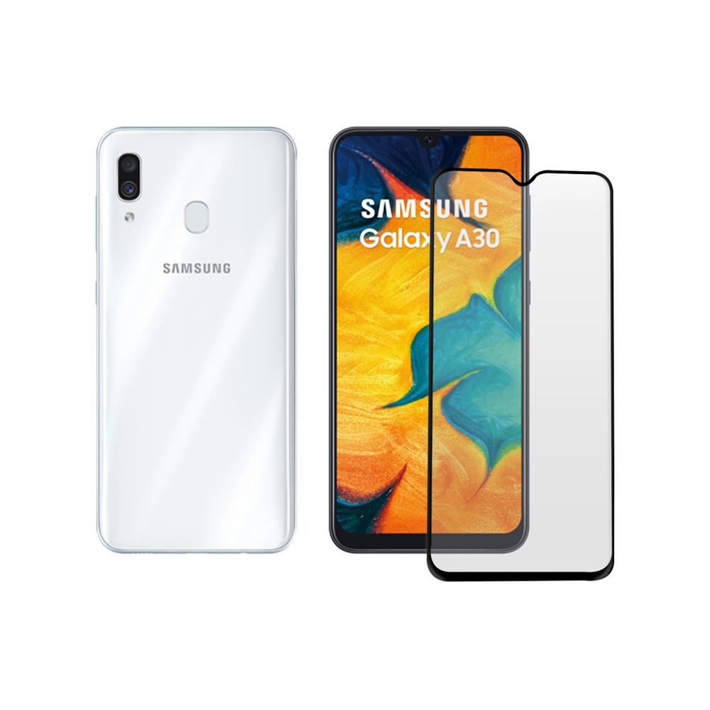 LUCCIDA Samsung Galaxy A30 9H防爆玻璃貼【2.5D滿版】