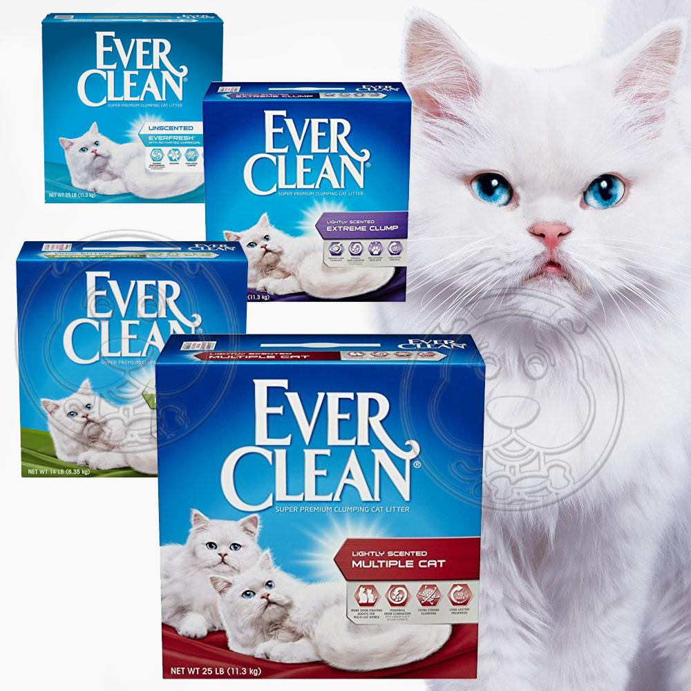 時時樂 美國EverClean《藍鑽系列》活性碳除臭貓砂25磅 (二盒)-白標