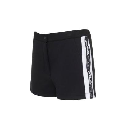 FILA #尬頑街潮 針織短褲-黑色 5SHU-5438-BK