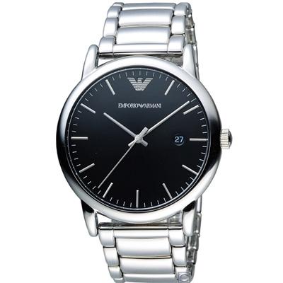 Emporio Armani  Classic 簡約時尚腕錶(AR2499)黑/43mm