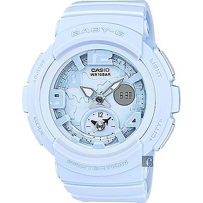 CASIO 卡西歐 Baby-G 愛旅行粉彩手錶-粉藍(BGA-190BC-2B)
