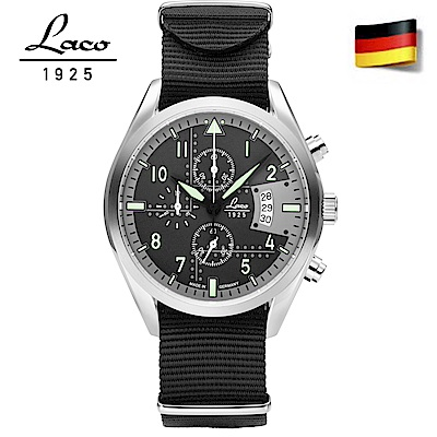 Laco 朗坤861917 德國工藝軍事風格42mm/黑色