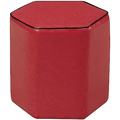 文創集 巴穆塔現代風皮革六角造型高椅凳(三色可選)-43x43x43cm-免組
