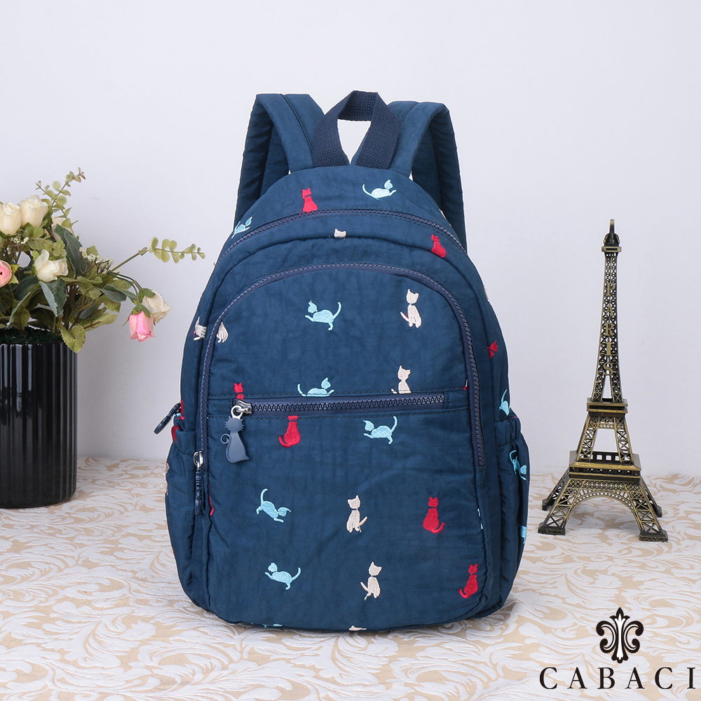 CABACI 淘氣小貓繡線後背包 product image 1