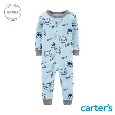Carter's台灣總代理 粉藍小怪獸連身裝