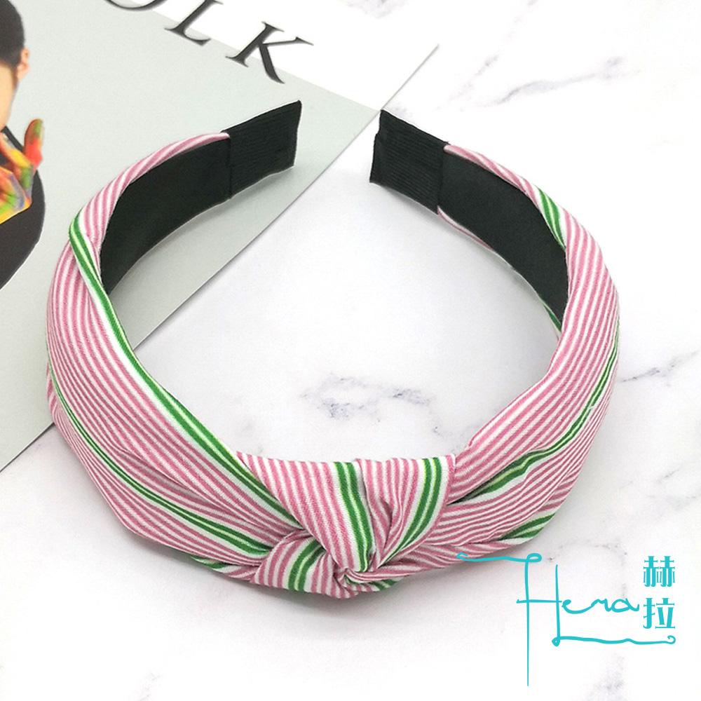Hera 赫拉 人氣韓國紅色拼接綠色條紋髮箍髮帶