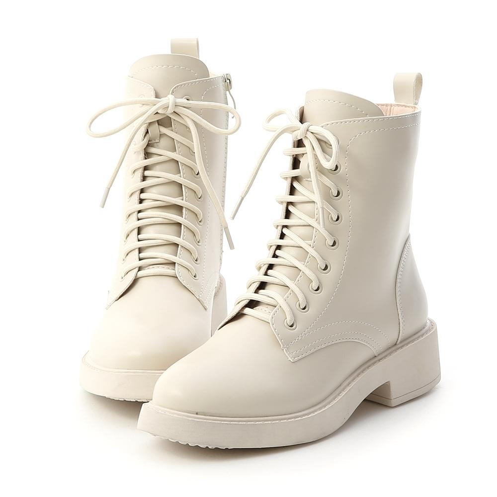 D+AF 街頭型人.加厚鞋底中筒馬汀靴*米