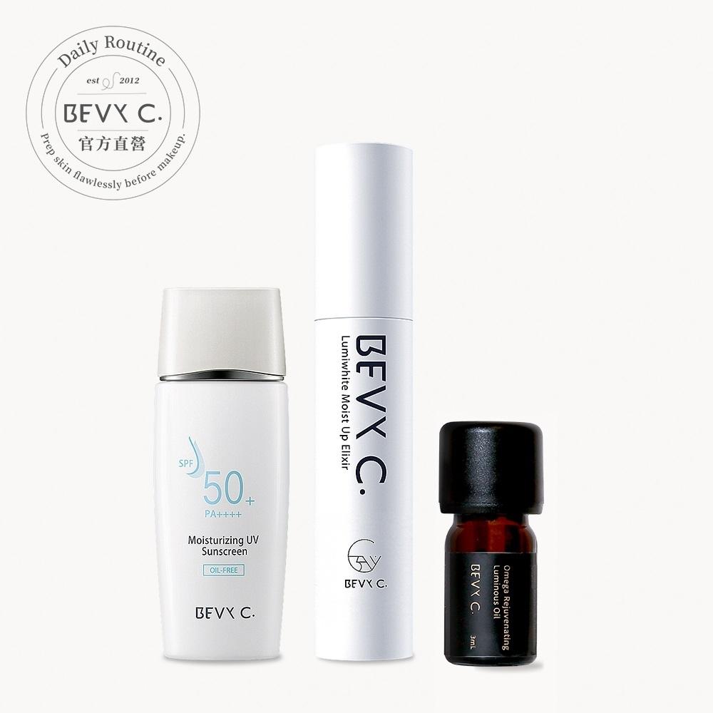 BEVY C. 雷射術後推薦―保濕打底組(妝前精華+防曬日霜+Omega油)
