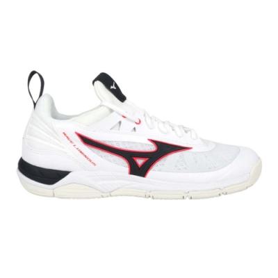 MIZUNO WAVE LUMINOUS 男排球鞋-訓練 運動 美津濃 V1GA182065 白黑紅