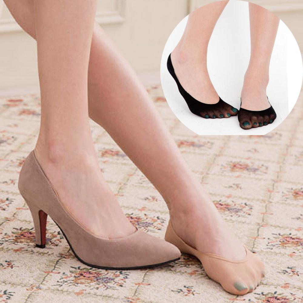 華貴 超薄透膚一體成型超淺口隱形襪-12雙 (絲襪材質)
