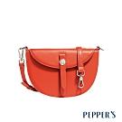 PEPPER'S Mona 牛皮信封馬鞍包 - 珊瑚橘