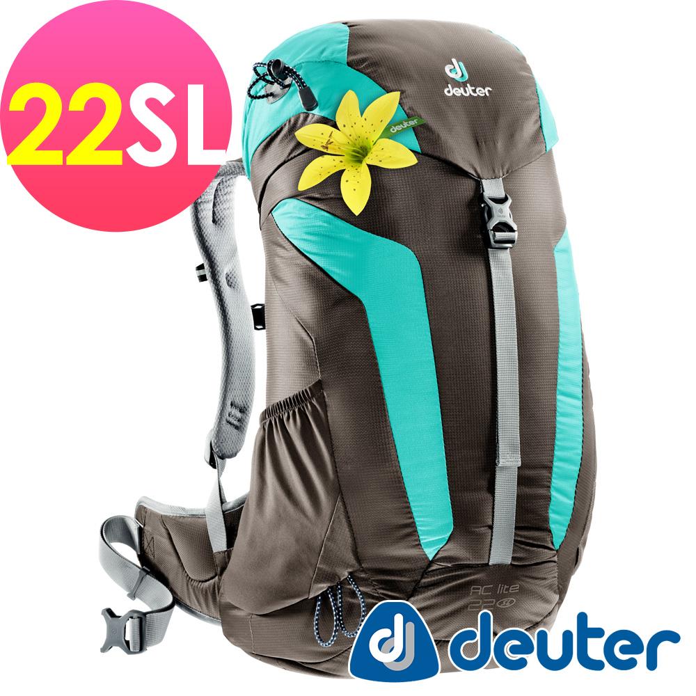 【ATUNAS 歐都納】德國原廠deuter 22SL網架透氣背包3420216 咖啡/綠