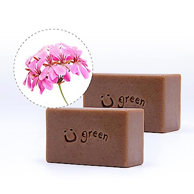 綠優園-天然植萃手工皂潤膚皂-冰花天竺葵二入裝