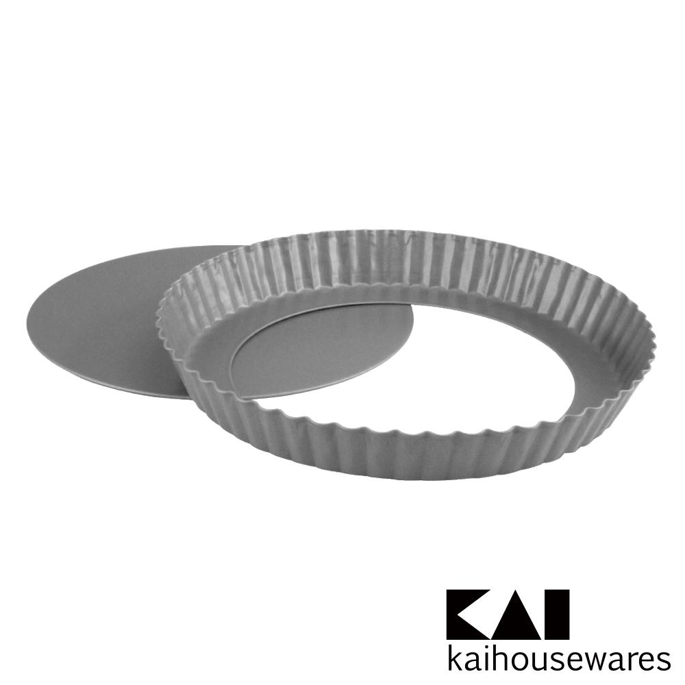 KAI貝印 House Select活動式菊型不沾烤派盤模-21cm