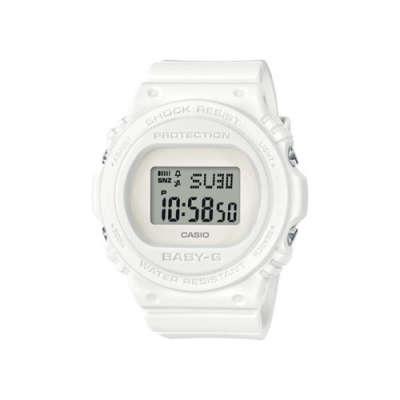 CASIO卡西歐 BABY-G系列 時尚女錶 (BGD-570-7)-白/ 43.0mm