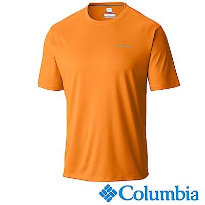 Columbia哥倫比亞 男-防曬30涼感快排短袖上衣橘色 UAE60840OG
