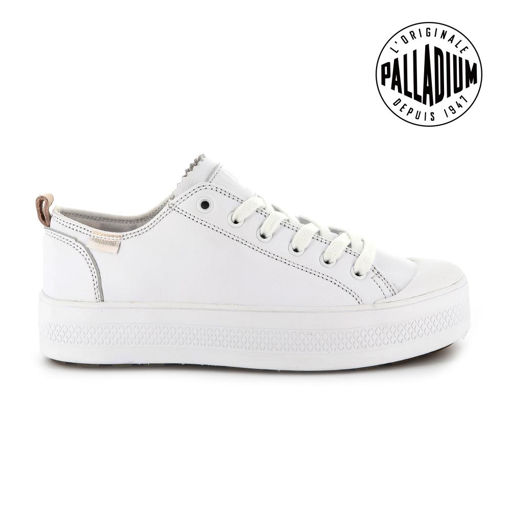Palladium SUB LACE LTH低筒女鞋-白