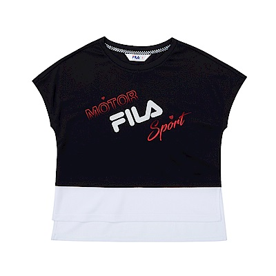 FILA KIDS 童吸濕排汗上衣-黑 5TET-4462-BK