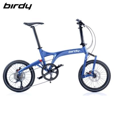 New Birdy(Ⅲ) Standard 9速18吋前後避震縱向折疊車-星空藍