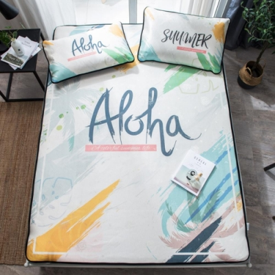 BUNNY LIFE-ALOHA-雙人-北歐風透氣涼爽冰絲蓆(含枕套)