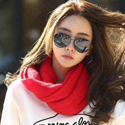 正韓 簡約純色慵懶感針織圍巾 (共五色)-N.C21