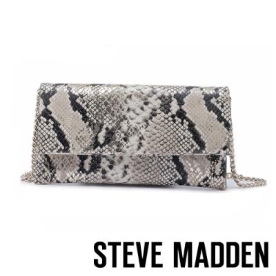STEVE MADDEN-BSUBLIME 摩登名人蛇皮翻蓋斜背鍊包-蛇紋銅