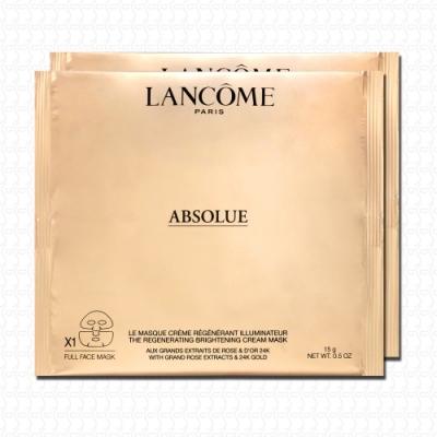 LANCOME蘭蔻 絕對完美24K黃金玫瑰霜面膜15gx2
