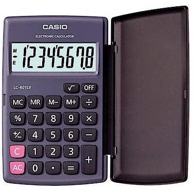 CASIO   國家考試專用機8位數小型摺疊計算機 (LC-401LV-BK)
