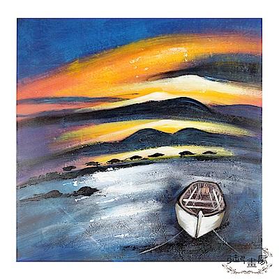 御畫房 手繪無框油畫-迎接朝陽 80x80cm