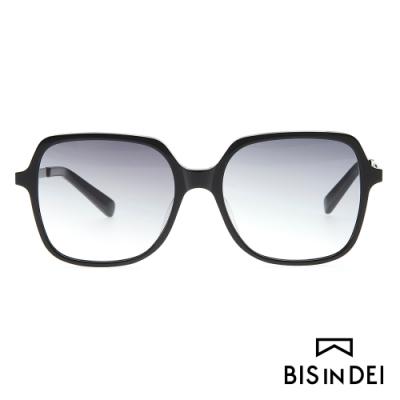 BIS IN DEI 簡單大方框太陽眼鏡-黑