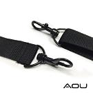 AOU 輕量活動式強化耐重背帶 側背帶 公事包背帶 尼龍背帶(黑-大圓式)03-007D4
