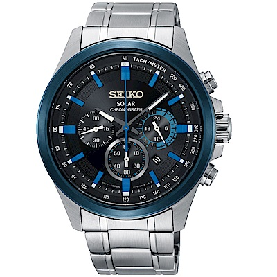 SEIKO精工Criteria太陽能計時腕錶(SSC683P1)-藍