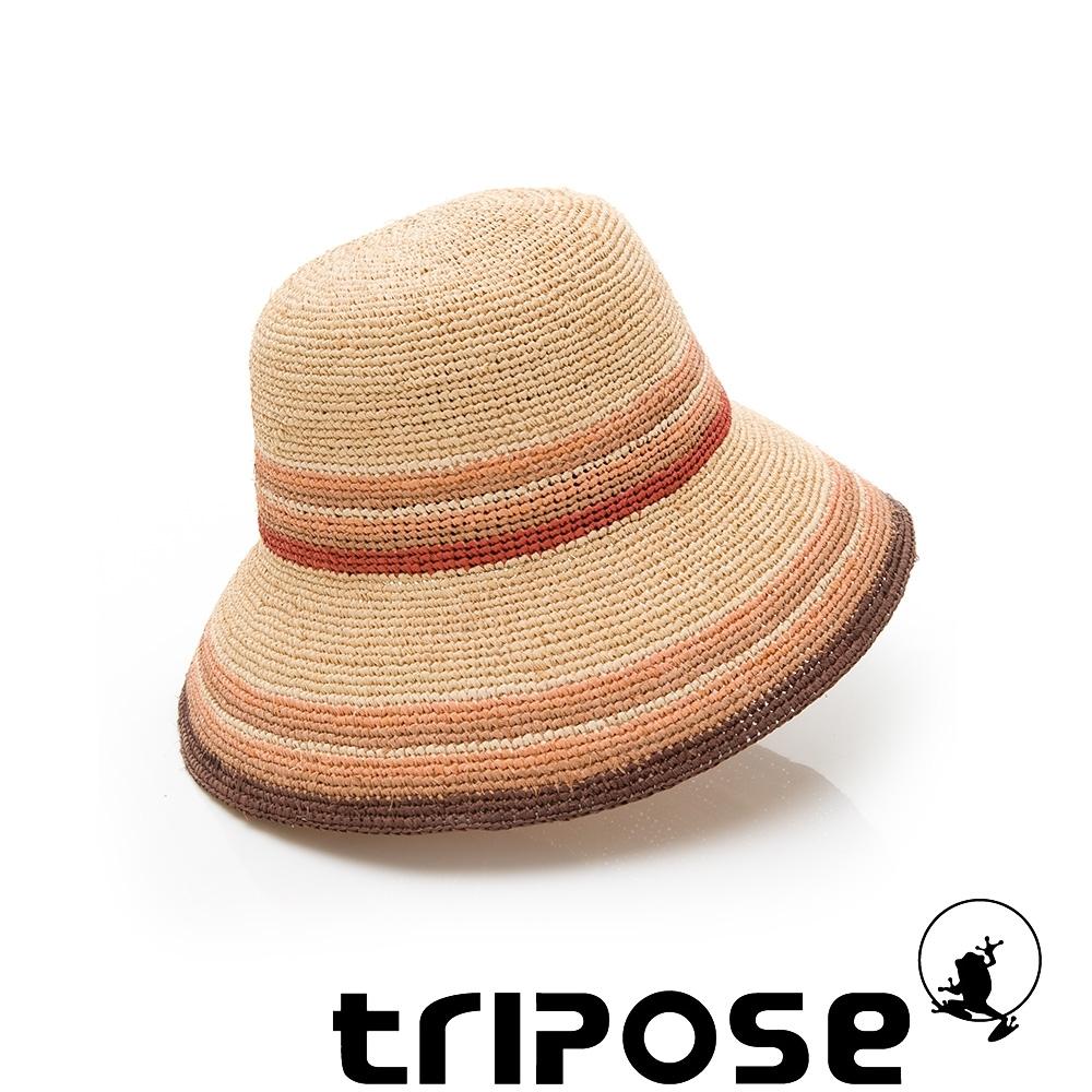 tripose BELEN 100%手工Raffia時尚遮陽草帽-帽簷10cm(自然色)