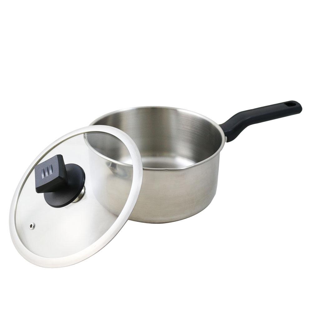鵝頭牌不鏽鋼日式單把湯鍋20cm