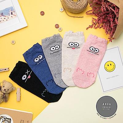 阿華有事嗎 韓國襪子 大眼怪兔短襪 韓妞必備卡通襪 正韓百搭純棉襪