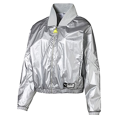 PUMA-女性流行系列Trailblazer立領外套-白色-歐規