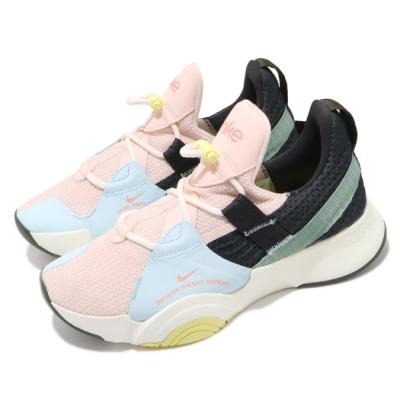 Nike 訓練鞋 SuperRep Groove 運動 女鞋 襪套 舒適 避震 包覆 健身房 穿搭 彩 白 DJ0039861