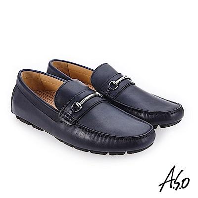 A.S.O 超能耐二代 舒適包覆休閒鞋 深藍