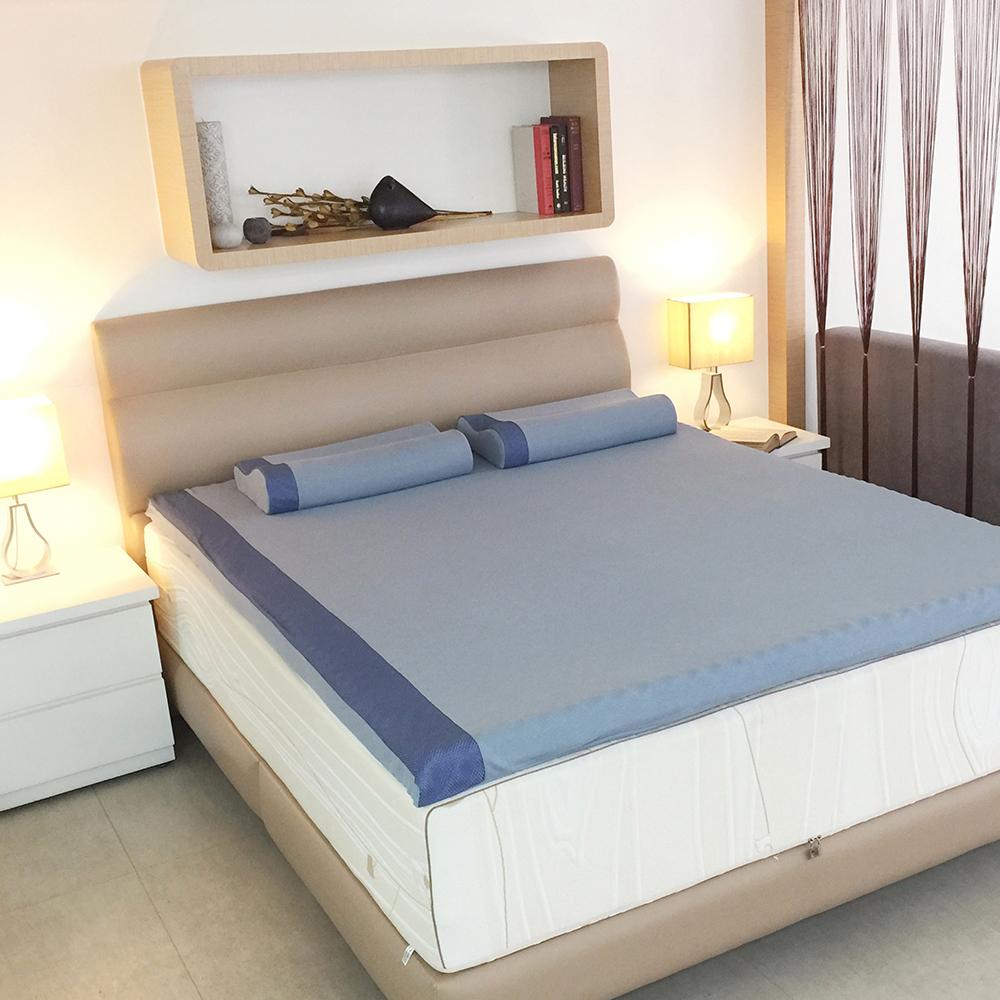 DISCOVERY柔眠床墊 標準雙人5尺 5.5cm厚_文青藍特仕版-不含枕
