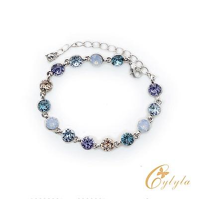 Cylyla思琳娜 施華洛世奇元素彩虹天空手鍊BL-1277Ga(藍色)
